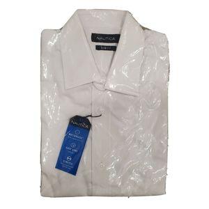 NWT NAUTICA White Collared Slim Fit Dress Shirt